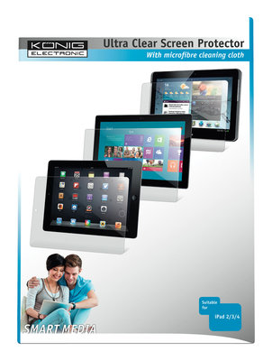Ultra clear screenprotector voor iPad 2/3/4