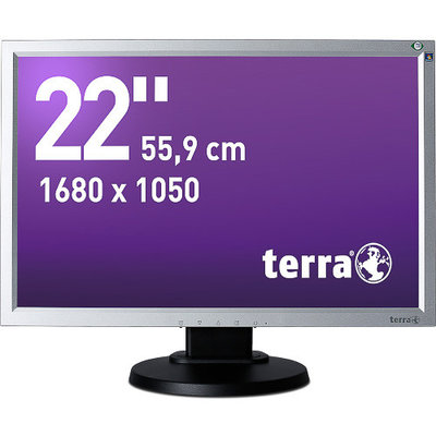 TERRA LED 2230W PIVOT silv/bla DVI GREENLINE PLUS