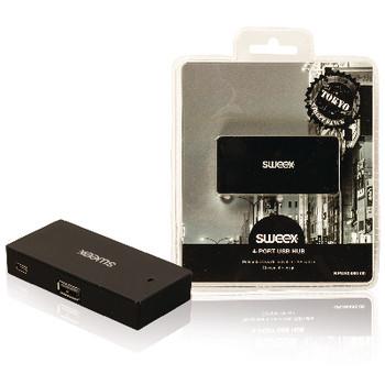 4-poorts USB-hub Tokyo zwart