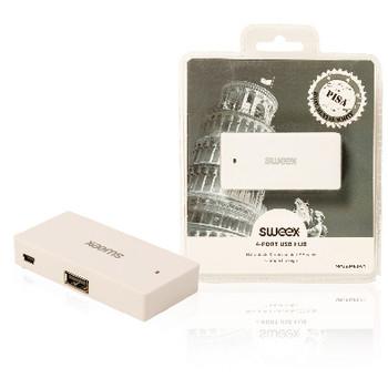 4-poorts USB-hub Pisa wit