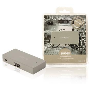 4-poorts USB-hub Amsterdam grijs