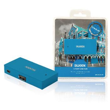 4-poorts USB-hub Curacao blauw