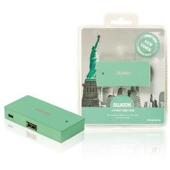 4-poorts USB-hub New York mint