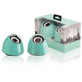 2.0 speakerset USB voeding 2x 3 W draagbaar groen