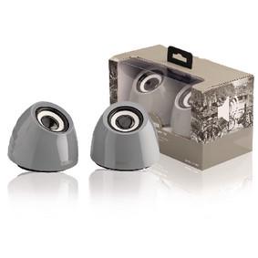 2.0 speakerset USB voeding 2x 3 W draagbaar grijs