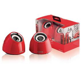 2.0 speakerset USB voeding 2x 3 W draagbaar rood
