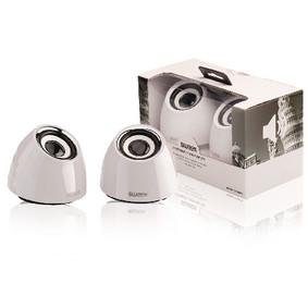 2.0 speakerset USB voeding 2x 3 W draagbaar wit