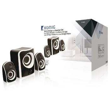 Konig 2.1-speakerset zwart