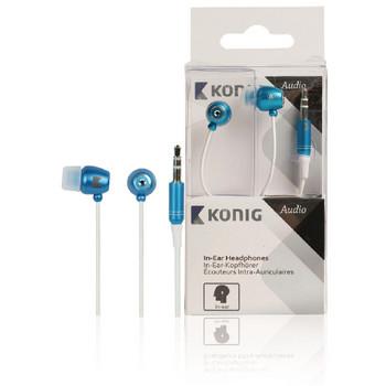 Konig In-ear oordopjes blauw