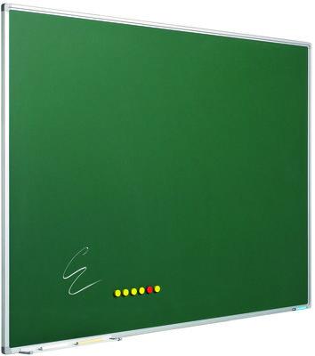 Krijtbord Softline profiel 8mm, emailstaal grijs