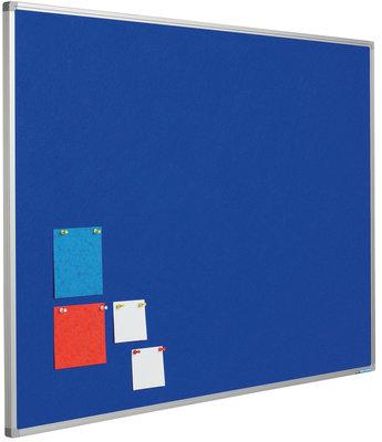 Prikbord Softline profiel 8mm, vilt blauw