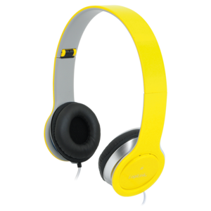 Headset Stereo,with Microphone, 3.5mm, yellow