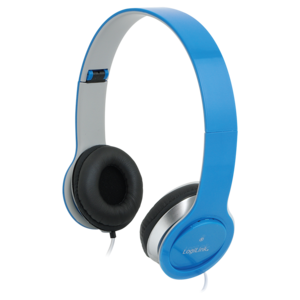 Headset Stereo,with Microphone, 3.5mm, blue